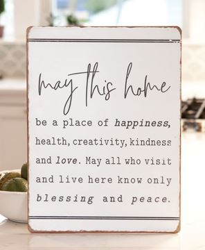 Picture of May This Home Be Metal Sign