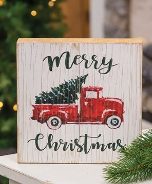 Picture of Merry Christmas Vintage Truck Sign