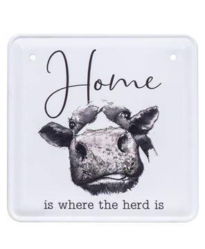 Picture of Home is Where the Herd Is Metal Sign