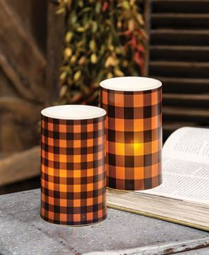Picture of Orange Small Buffalo Check Timer Pillar