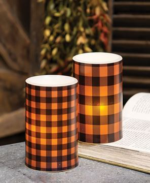 Picture of Orange Large Buffalo Check Timer Pillar
