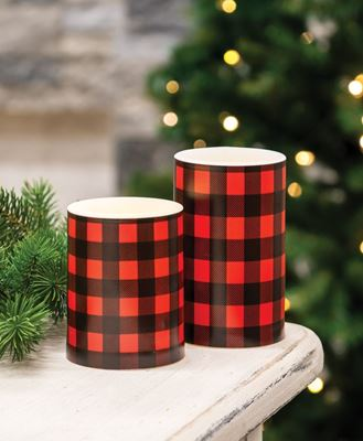 """Picture of 5"""" Red Large Buffalo Check Timer Pillar"""