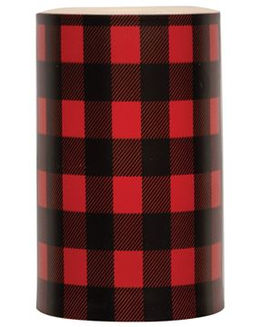 "Picture of 5"" Red Large Buffalo Check Timer Pillar"