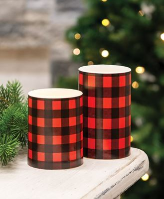 """Picture of 4"""" Red Large Buffalo Check Timer Pillar"""