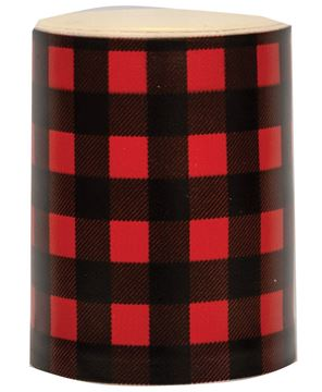 "Picture of 4"" Red Large Buffalo Check Timer Pillar"