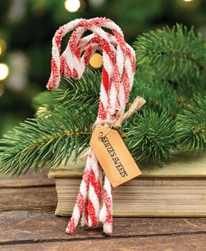 Picture of Sparkle Chenille Candy Canes, 6/Set