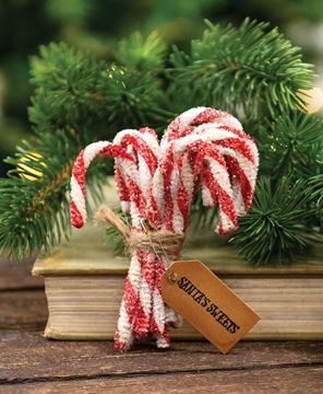 Picture of Sparkle Chenille Candy Canes, 12/Set