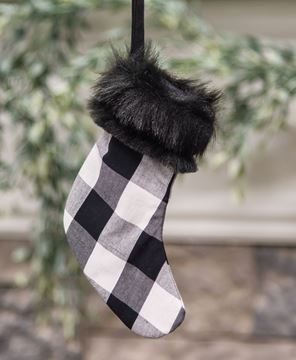 Picture of Black Buffalo Check Stocking