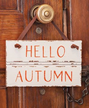 Picture of Hello Autumn Sign w/Suede Hanger