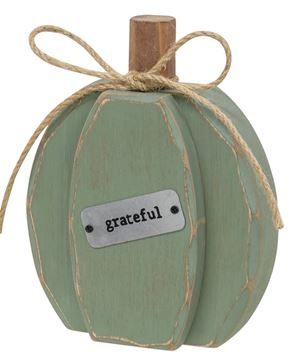 Picture of Teal Chunky Grateful Pumpkin Sitter