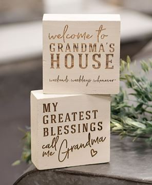 Picture of Grandma's House Engraved Blocks, 2 Asstd.