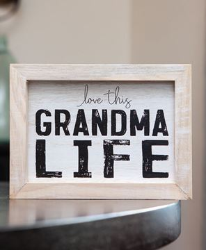 Picture of Grandma Life Framed Sign
