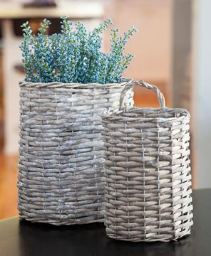 Picture of Gray Willow Oval Baskets, 2/set