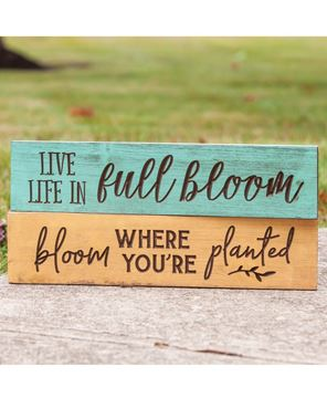 Picture of Bloom Where You're Planted Engraved Sign, 24""