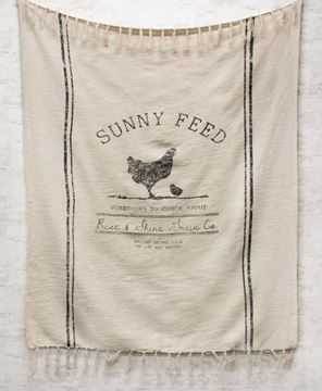 Picture of Sunny Feed Farmhouse Throw