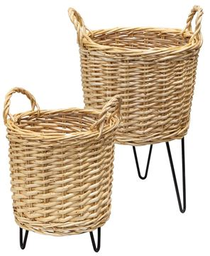 Picture of Wicker Basket Plant Stands, 2/Set