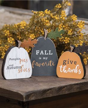 Picture of Fall Freestanding Pumpkins, 3/set