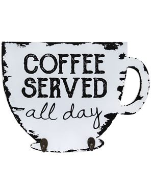 Picture of Coffee Served Cup Holder Sign