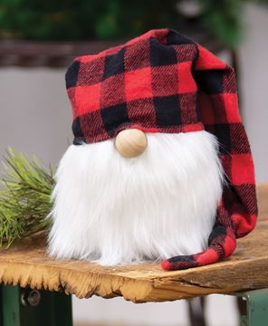 Picture of Red Buffalo Check Cap Gnome, 7""