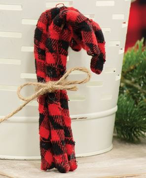 Picture of Buffalo Check Candy Canes, 4/Set