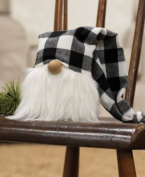 Picture of White Buffalo Check Cap Gnome, 5.5""