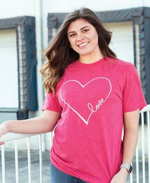 Picture of Love Heart T-Shirt, Heather Red