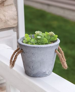 Picture of Cement Planter With Jute Handles, Medium