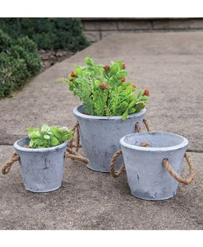 Picture of Cement Planter With Jute Handles, Small