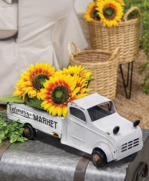 Picture of White Metal Farmer's Market Truck