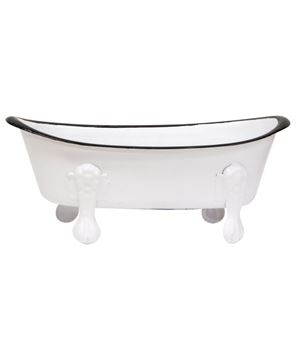 Picture of White Iron Bathtub Soap Dish