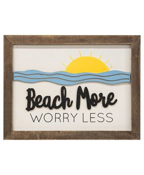 Picture of Beach More Worry Less Frame