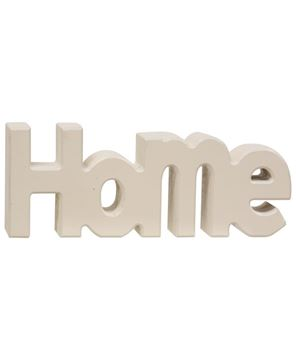 """Picture of Wooden """"Home"""" Block, Cream"""
