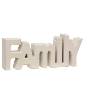 "Picture of Wooden ""Family"" Block, Cream"