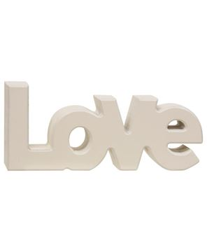 "Picture of Wooden ""Love"" Block, Cream"