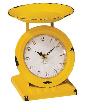 Picture of Sunflower Yellow Old Town Scale Clock