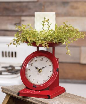 Picture of Vintage Wine Old Town Scale Clock