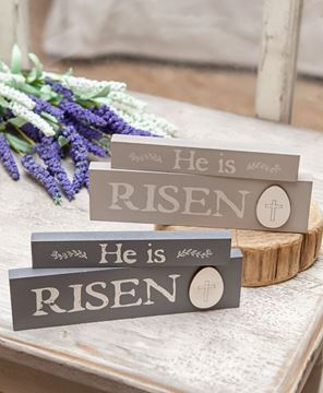 Picture of He Is Risen Stacking Blocks, 2 Asstd.