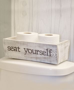 Picture of Hello Sweet Cheeks/Seat Yourself Reversible Toiletries Box