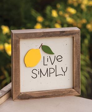 Picture of Live Simply Lemon Frame