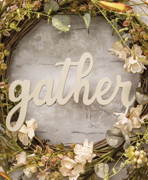 Picture of Hanging Ivory Script Gather Sign