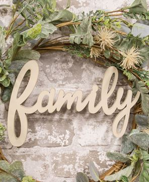 Picture of Hanging Ivory Script Family Sign
