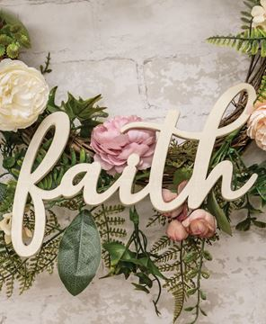 Picture of Hanging Ivory Script Faith Sign