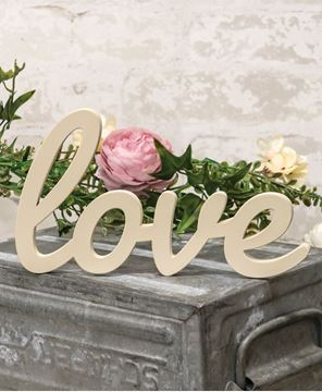 Picture of Hanging Ivory Script Love Sign