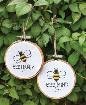 Picture of Bee Sampler Ornament, 2 Asstd.