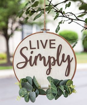 Picture of Live Simply Sampler Wall Hanger