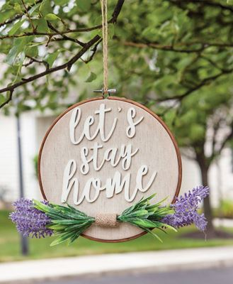 Picture of Let's Stay Home Lavender Sampler Sign