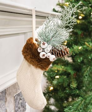 Picture of Knit Cream Stocking Gift Pocket