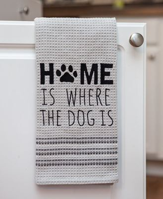 Picture of Home Is Where The Dog Is Dish Towel