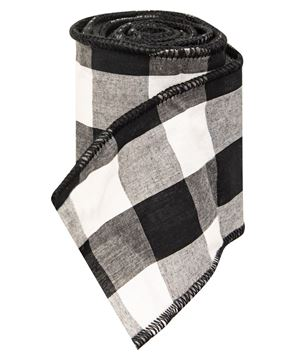 Picture of Wired Black & White Buffalo Check Ribbon