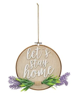 Picture of Let's Stay Home Lavender Sampler Sign